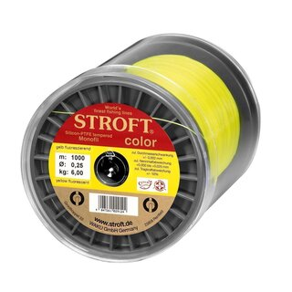 STROFT color gelb flouresz. 1000m  0,25mm