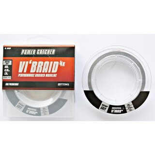 Spro Powercatcher VIBraid Grey Grau 125m 0.10mm 5.0kg geflochtene Angel-Schnur