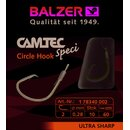 Balzer Camtec Speci Vorfach-Haken Circle 0.16mm 60cm #12...